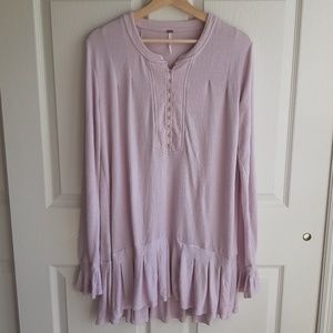 Free People Lavender Your Girl Tunic Size Large